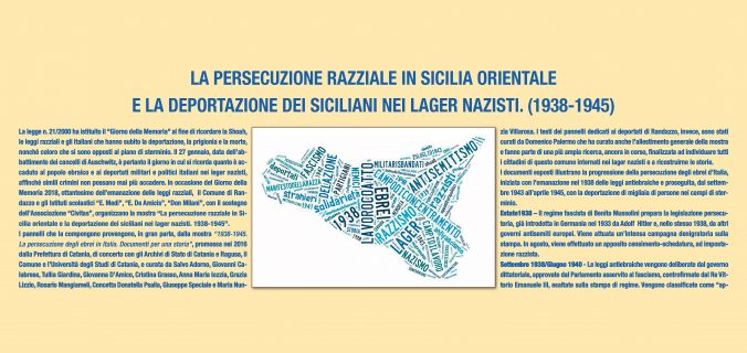Shoah: Tempesta devastante, una mostra 'interattiva' sulla persecuzione razziale in Sicilia orientale